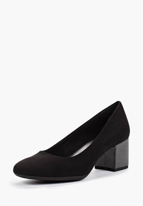 Фото 2 - женские туфли Marco Tozzi черного цвета