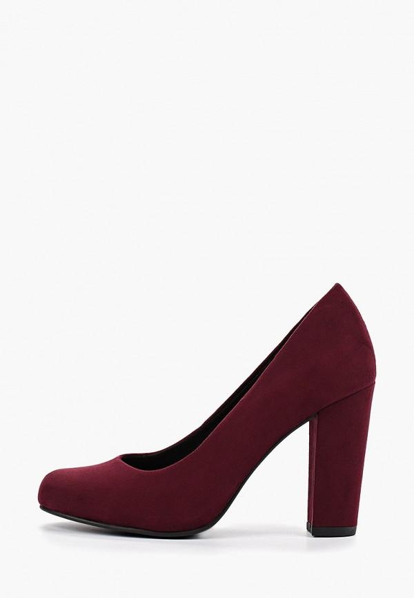 женские туфли marco tozzi, бордовые