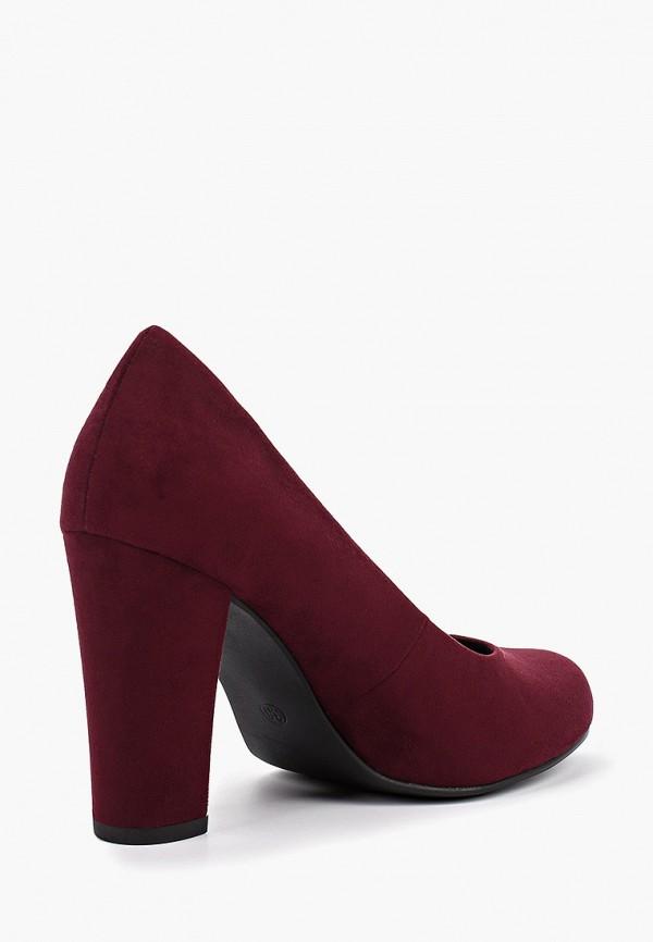 Фото 3 - женские туфли Marco Tozzi бордового цвета