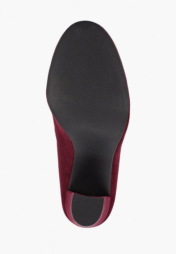Фото 5 - женские туфли Marco Tozzi бордового цвета