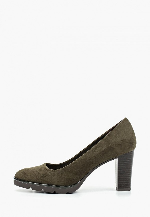 женские туфли marco tozzi, зеленые