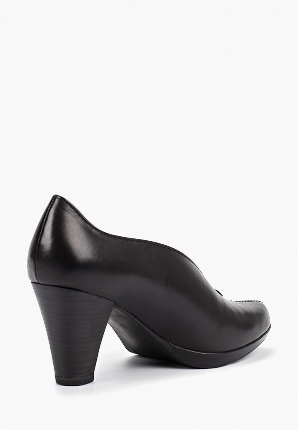 Фото 3 - женские туфли Marco Tozzi черного цвета