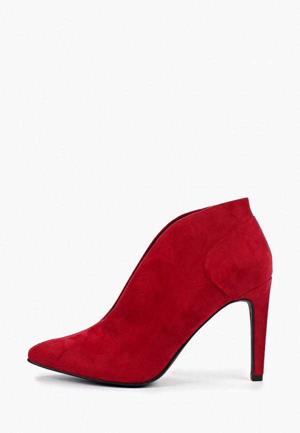 женские ботильоны marco tozzi, красные