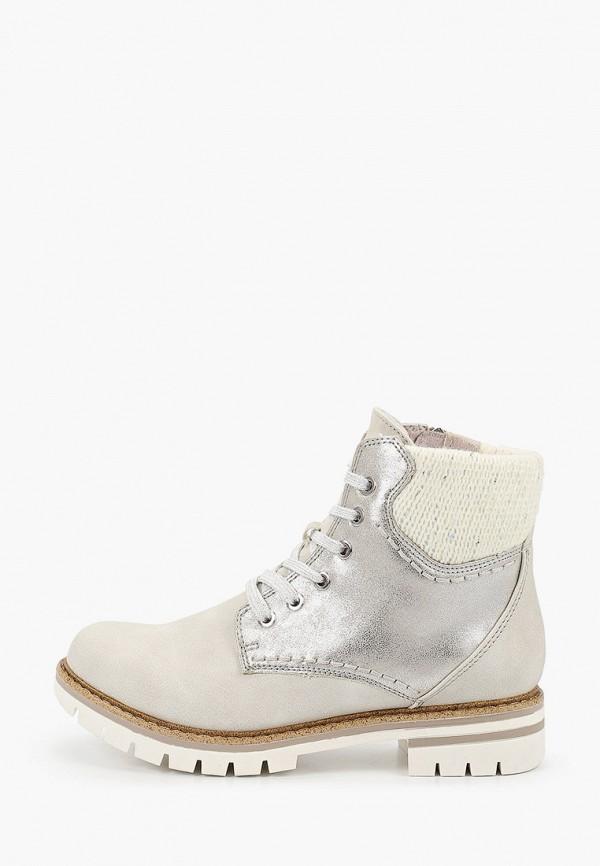женские ботинки marco tozzi, белые
