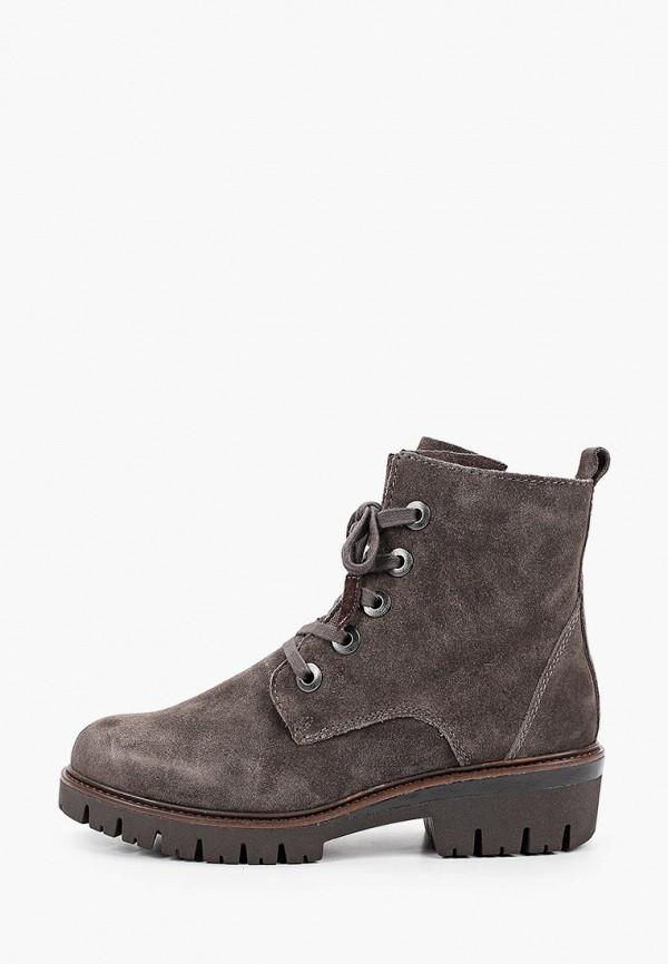 женские ботинки marco tozzi, серые