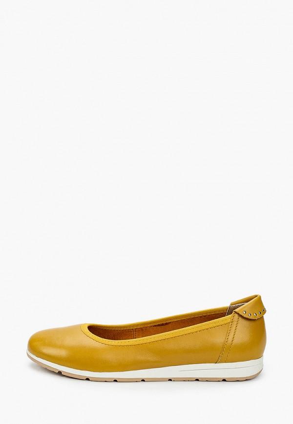 женские балетки marco tozzi, желтые