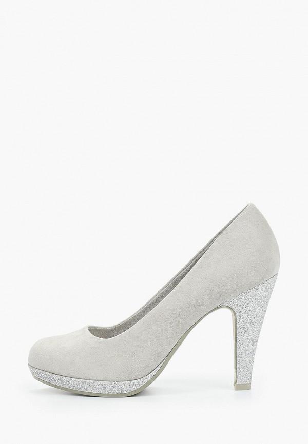 женские туфли marco tozzi, серые
