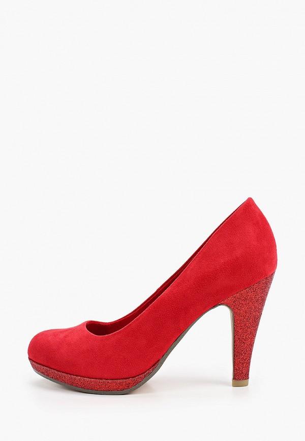 женские туфли marco tozzi, красные