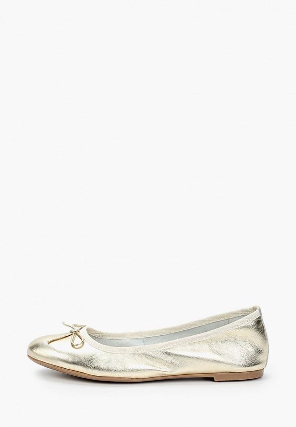 женские балетки marco tozzi, золотые