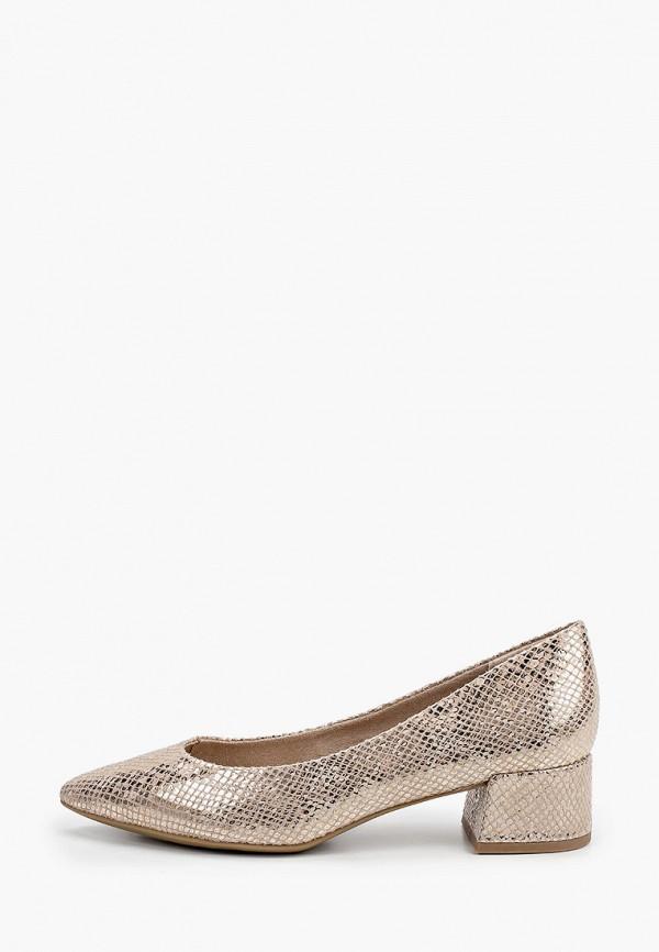 женские туфли marco tozzi, золотые