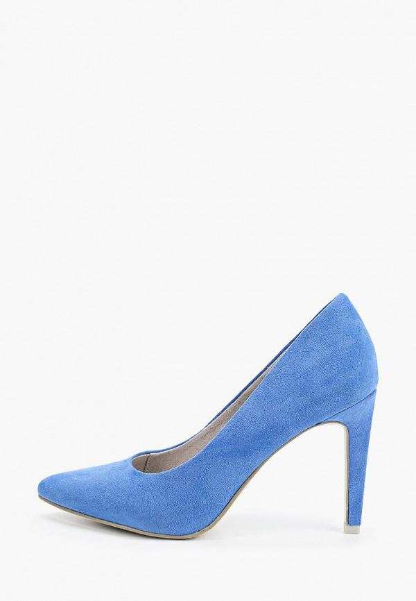 женские туфли marco tozzi, голубые