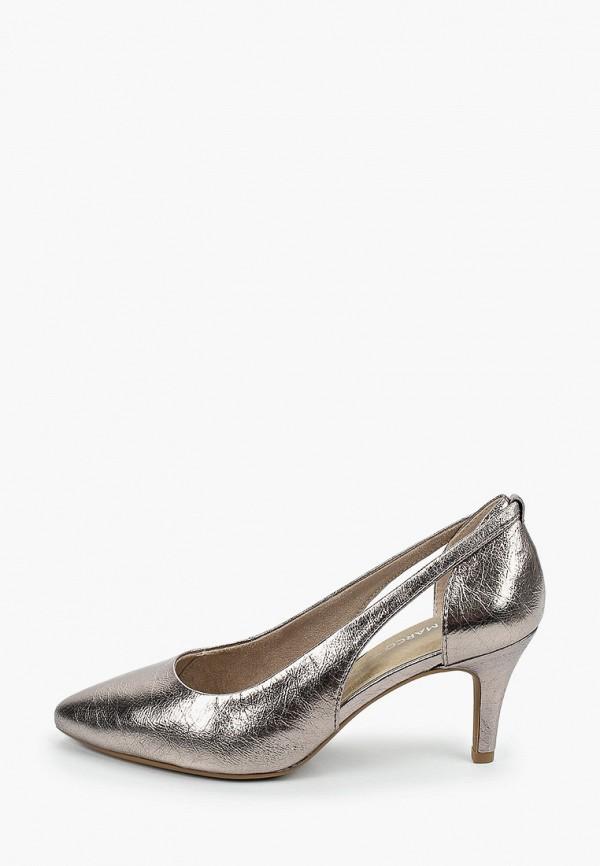 женские туфли marco tozzi, серебряные