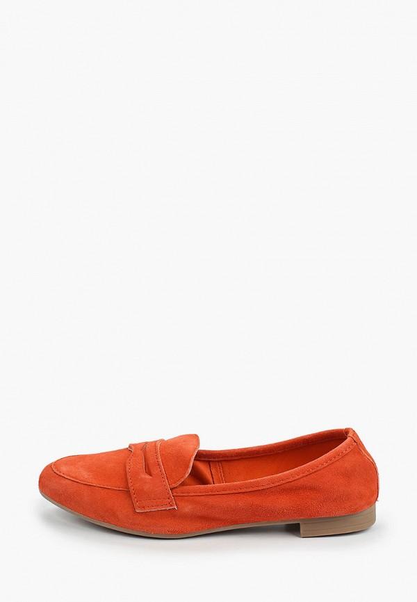 женские лоферы marco tozzi, оранжевые