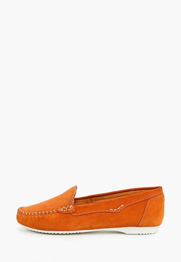 женские мокасины marco tozzi, оранжевые