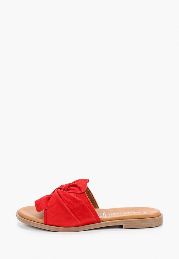 женское сабо marco tozzi, красное