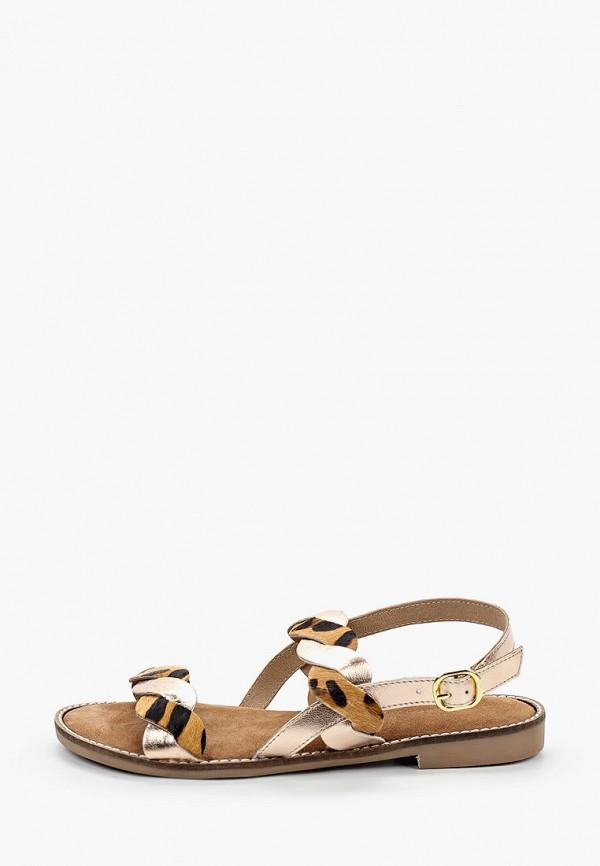 женские сандалии marco tozzi, коричневые