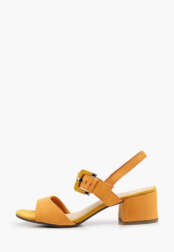 женские босоножки marco tozzi, оранжевые