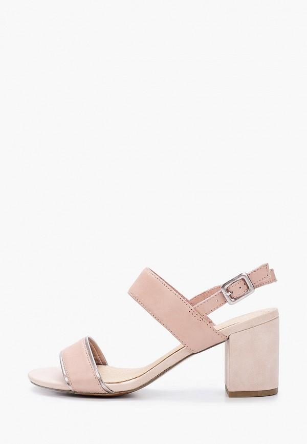 женские босоножки marco tozzi, розовые