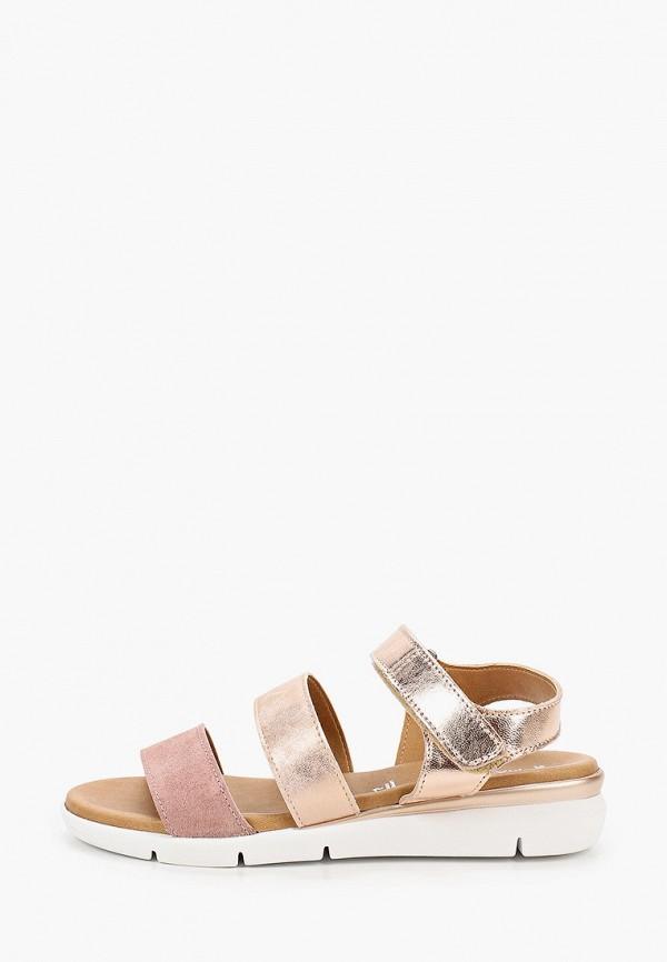 женские сандалии marco tozzi, розовые