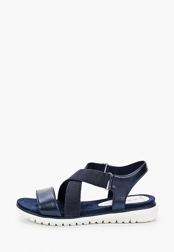 женские сандалии marco tozzi, синие