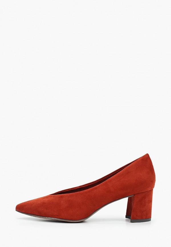 женские туфли marco tozzi, коричневые