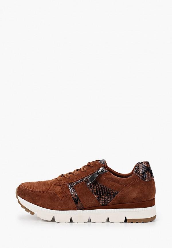 женские кроссовки marco tozzi, коричневые