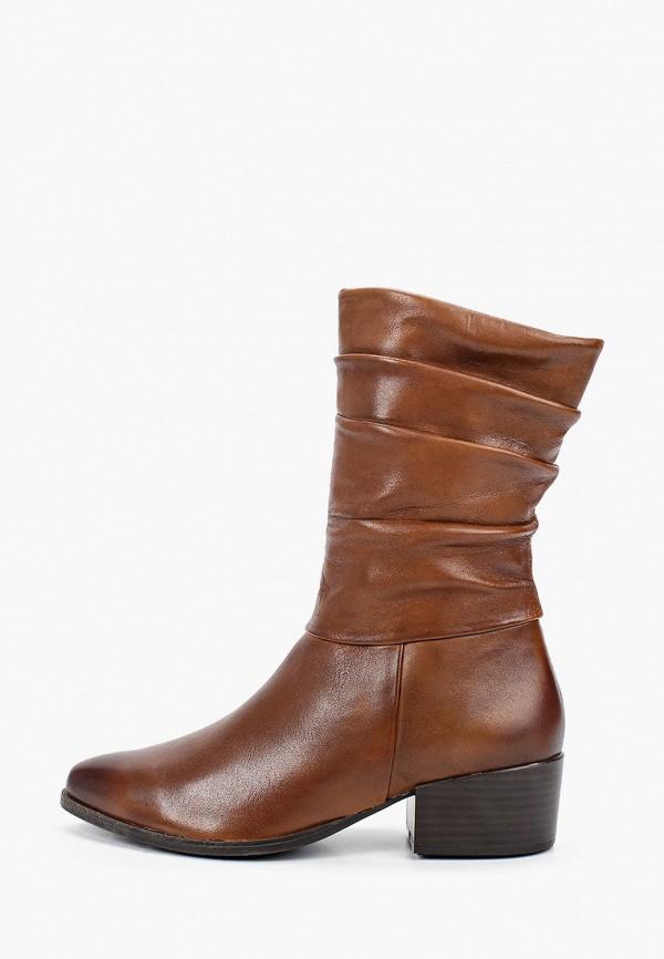 женские полусапожки marco tozzi, коричневые
