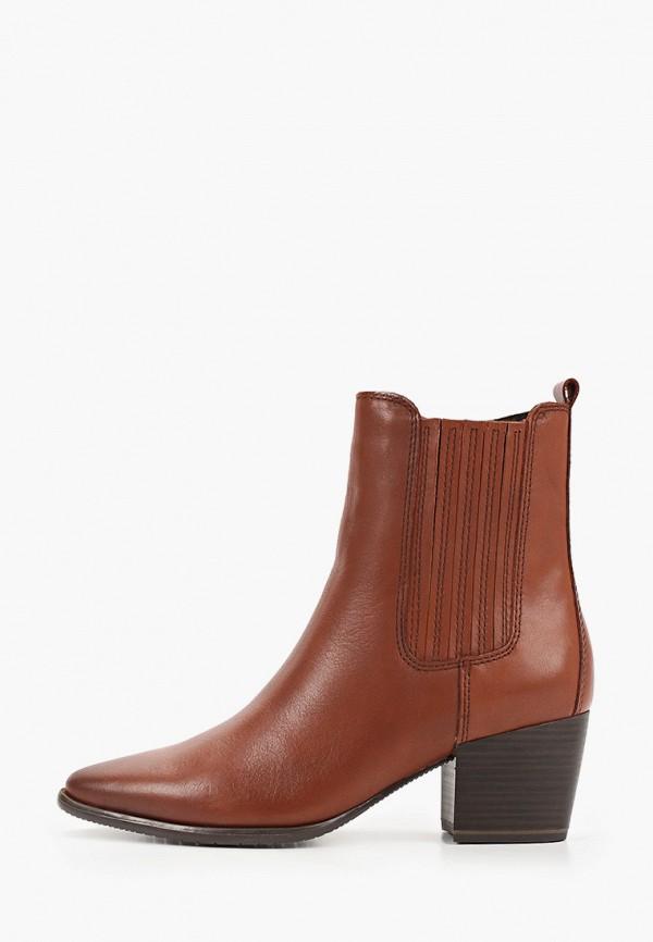 женские ботильоны marco tozzi, коричневые