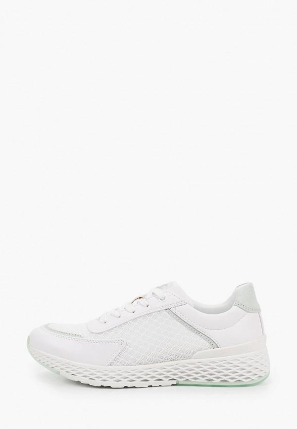 женские низкие кроссовки marco tozzi, белые