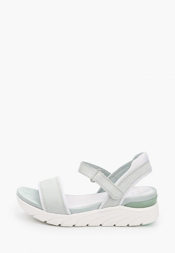 женские сандалии marco tozzi, зеленые