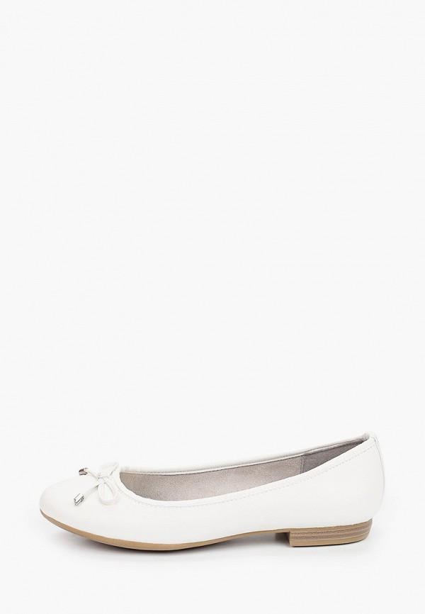 женские балетки marco tozzi, белые
