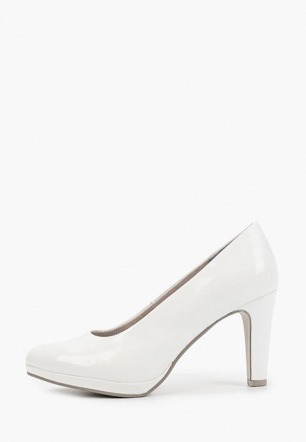 женские туфли с закрытым носом marco tozzi, белые