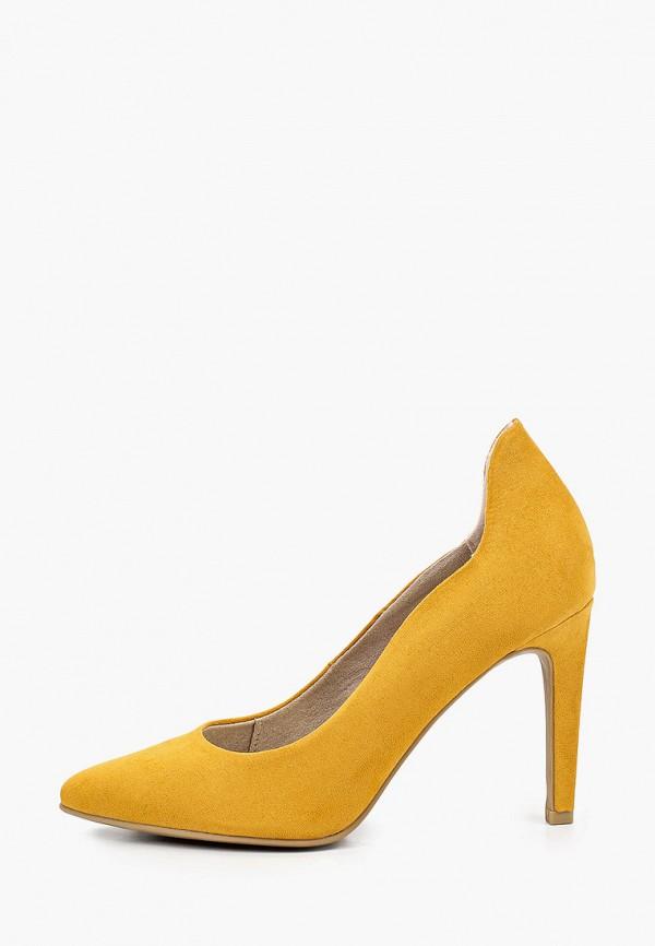 женские туфли-лодочки marco tozzi, желтые