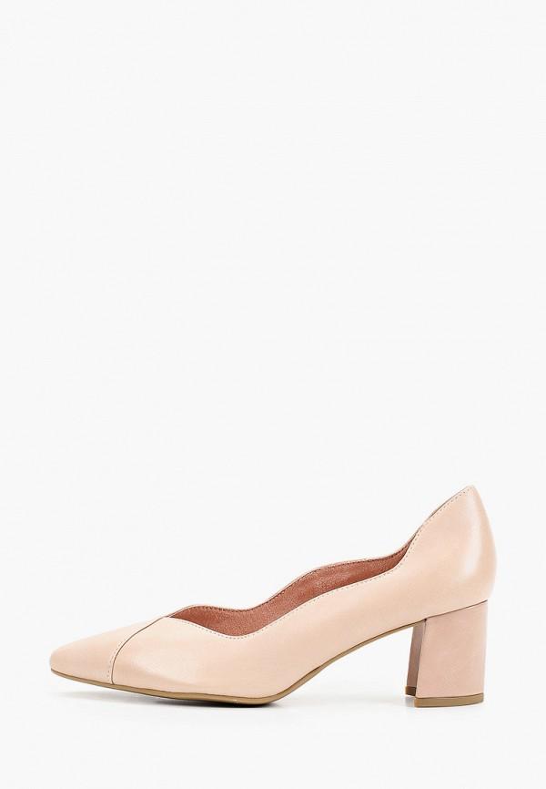 женские туфли с закрытым носом marco tozzi, розовые