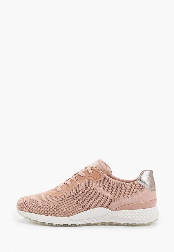 женские низкие кроссовки marco tozzi, розовые