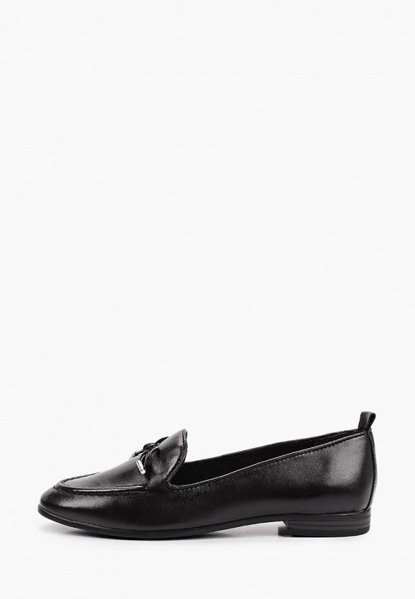женские лоферы marco tozzi, черные