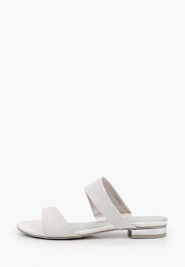 женское сабо marco tozzi, белое