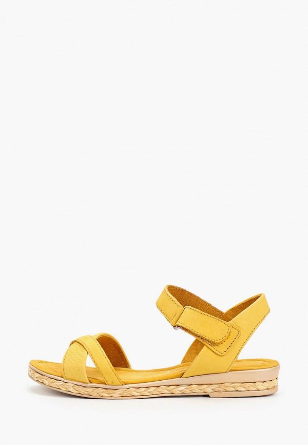 женские сандалии marco tozzi, желтые