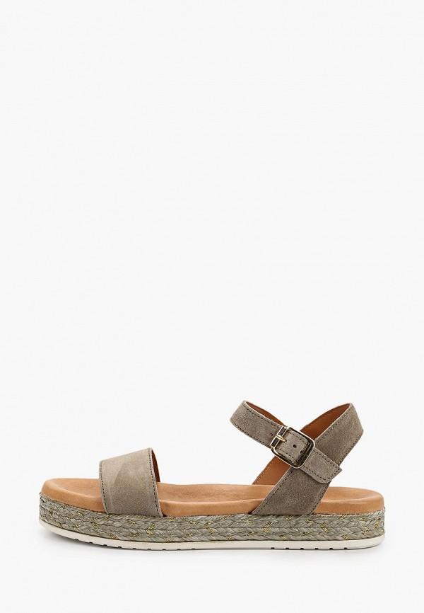 женские сандалии marco tozzi, хаки