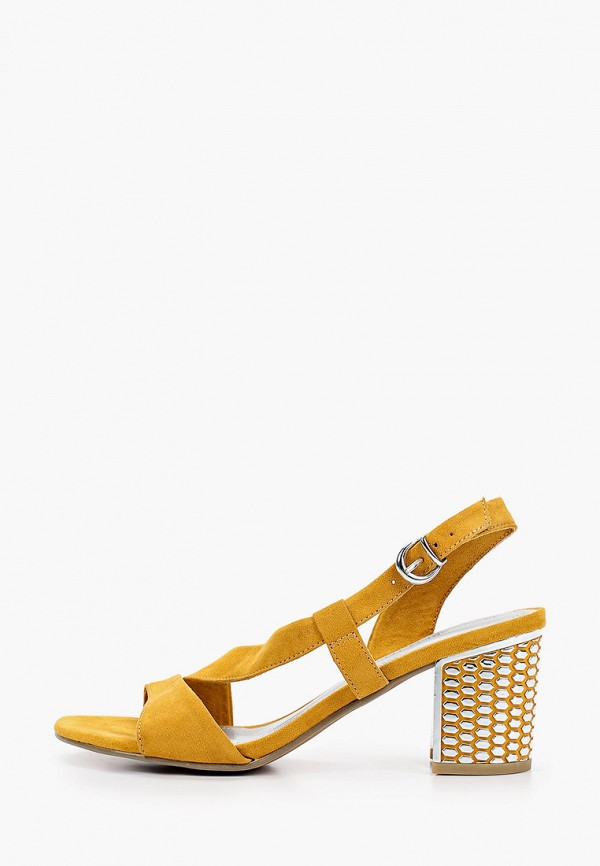 женские босоножки marco tozzi, желтые
