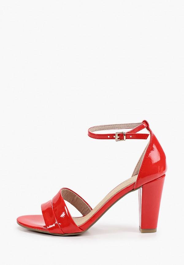 женские босоножки marco tozzi, красные