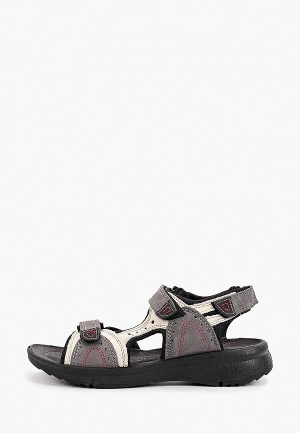 женские сандалии marco tozzi, серые