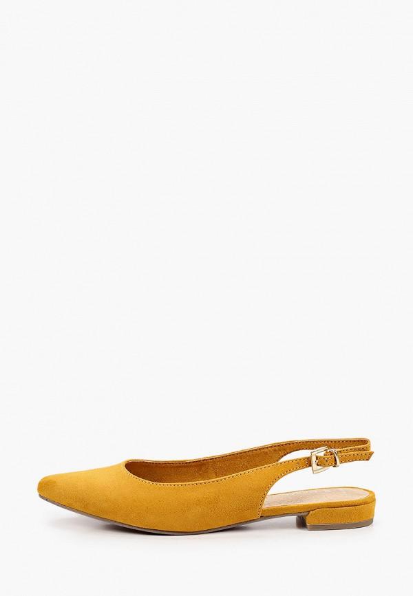 женские туфли marco tozzi, оранжевые
