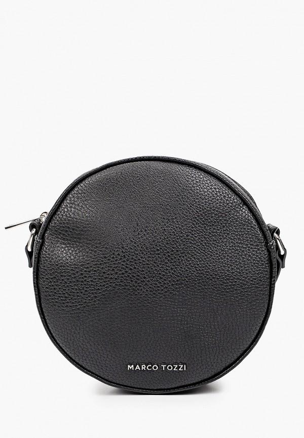 женская сумка через плечо marco tozzi, черная