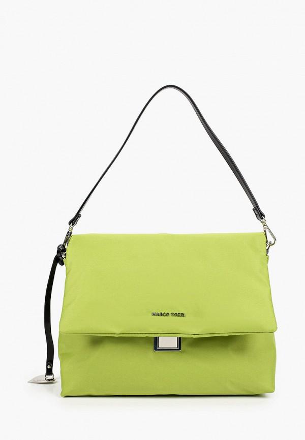 женская сумка с ручками marco tozzi, зеленая