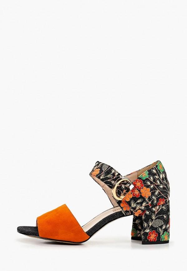 женские босоножки marie collet, оранжевые