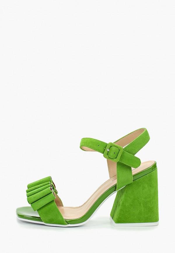 женские босоножки marie collet, зеленые