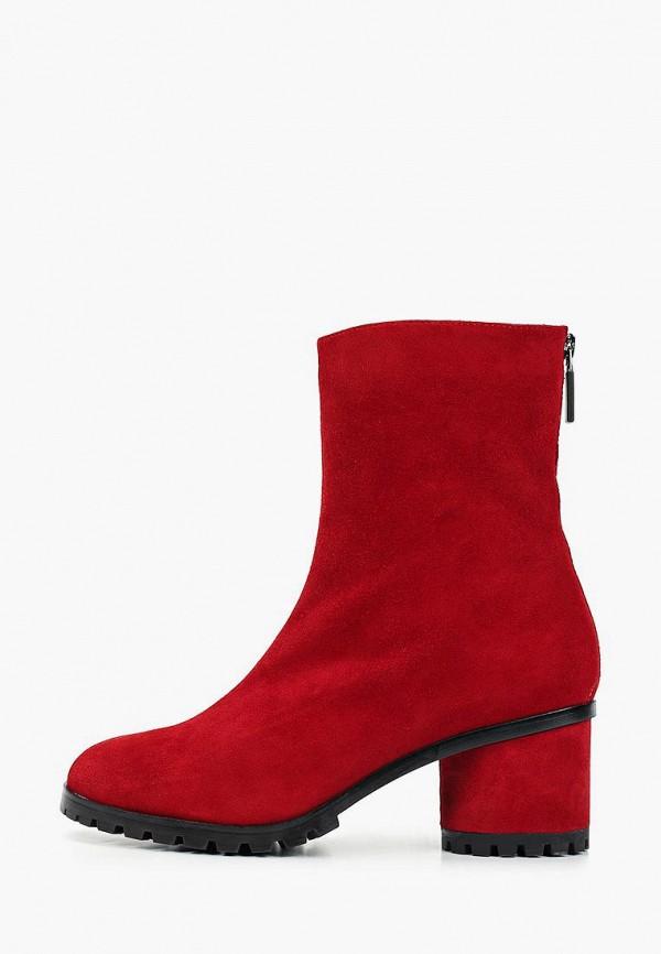 женские ботильоны marie collet, красные