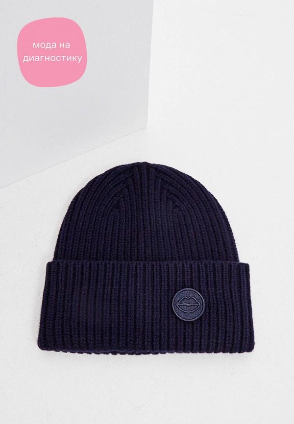 женская шапка markus lupfer, синяя