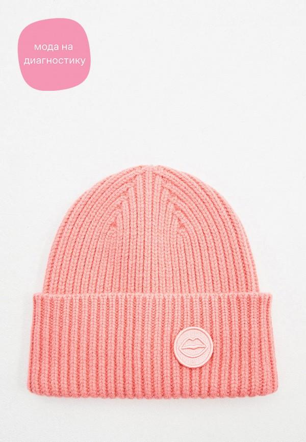 женская шапка markus lupfer, розовая